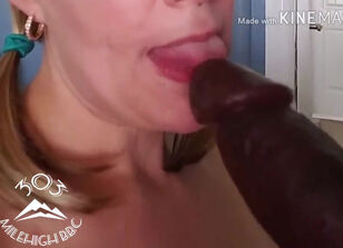 Interracial blowjob milf
